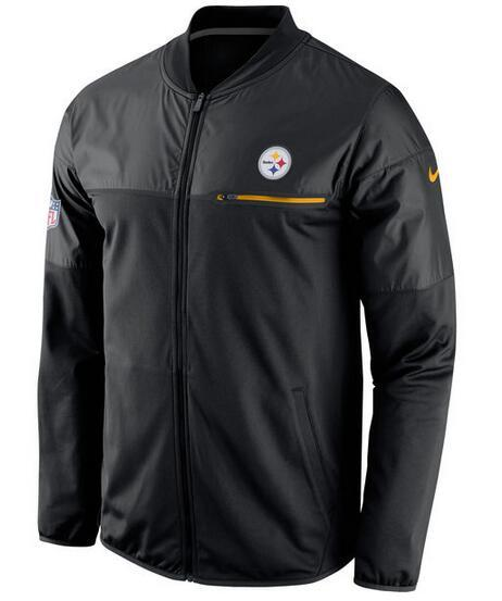 2017 Men Pittsburgh Steelers Nike Black Elite Hybrid Performance Jacket