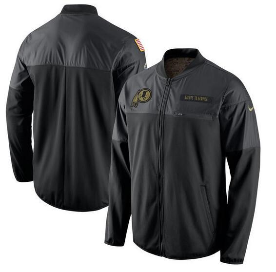 2017 Men Washington Redskins Nike Black Salute to Service Hybrid Performance Jacket