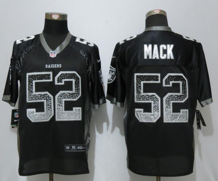 2017 NEW Nike Dallas Raiders 52 Mack Drift Fashion Black Elite Jerseys