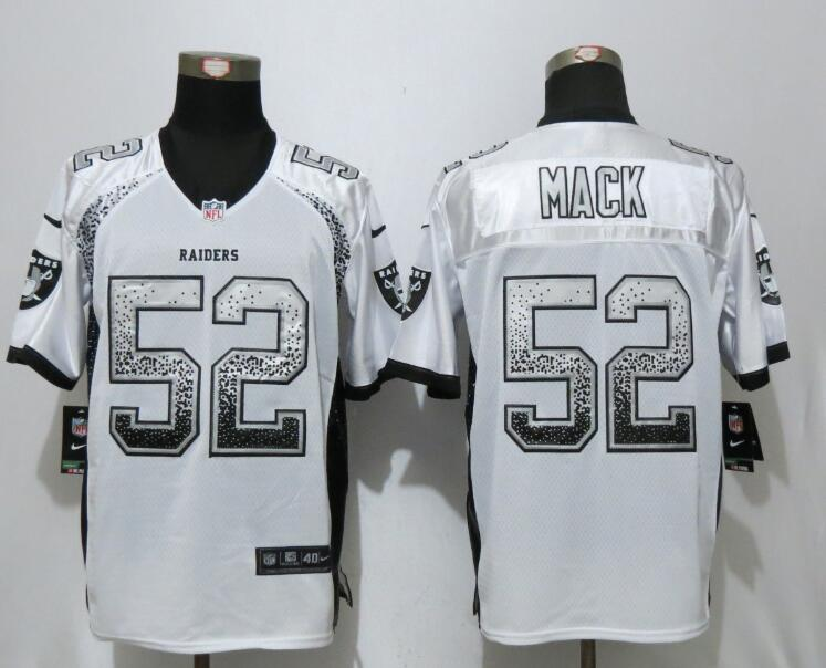2017 NEW Nike Dallas Raiders 52 Mack Drift Fashion White Elite Jerseys