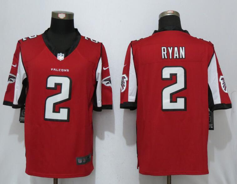 2017 New Nike Atlanta Falcons 2 Ryan Red Limited Jersey