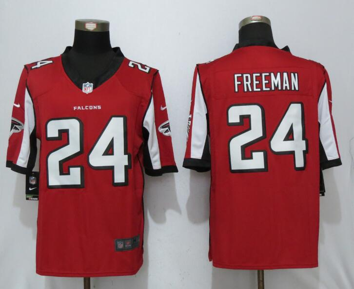 2017 New Nike Atlanta Falcons 24 Freeman Red Limited Jersey