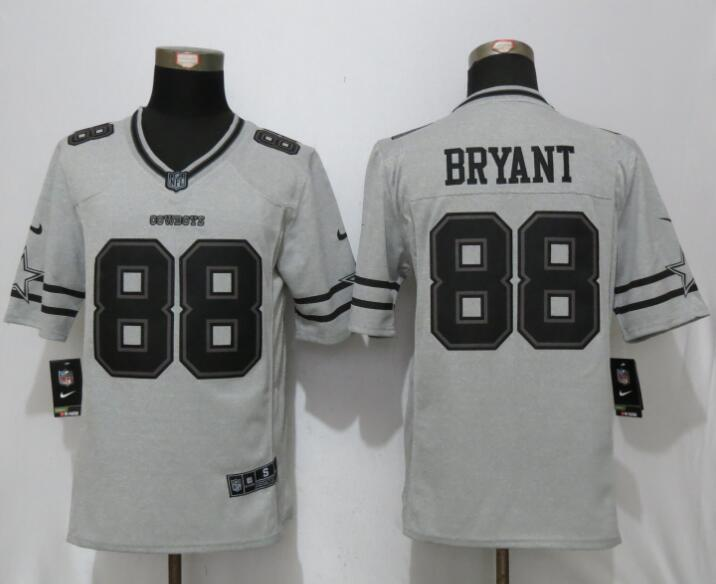 2017 Nike Dallas Cowboys 88 Bryant Nike Gridiron Gray II Limited Jersey