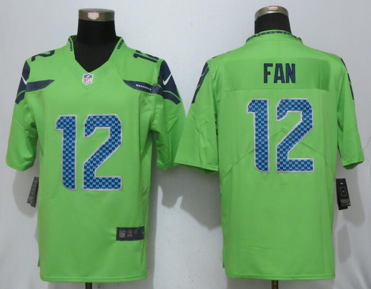 2017 Nike Seattle Seahawks 12 Fan Green Color Rush Limited Jersey