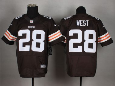 Cheap Customized Cleveland Browns 28 West Brown 2014 Nike Elite Jerseys