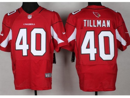 Arizona Cardicals 40 Tillman Red Nike Elite NFL Jerseys