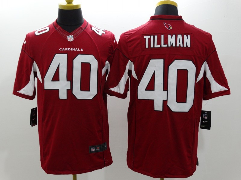 Arizona Cardicals 40 Tillman Red Nike Limited Jerseys