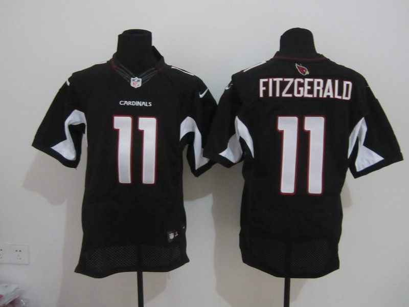 Arizona Cardinals 11 Fitzgerald Black Nike Elite Jersey