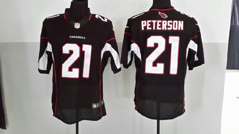 Arizona Cardinals 21 Peterson Black Nike Elite Jersey