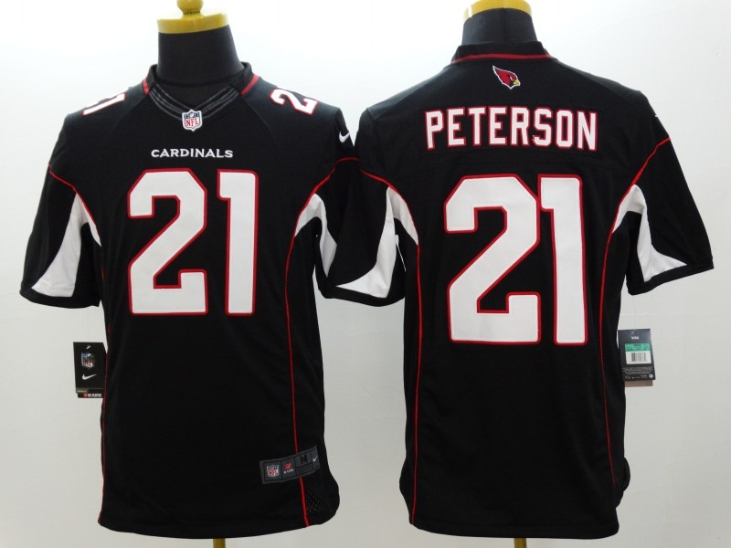 Arizona Cardinals 21 Peterson Black Nike Limited Jerseys