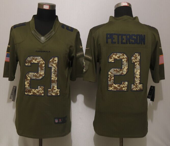 Arizona Cardinals 21 Peterson Green Salute To Service New Nike Limited Jersey