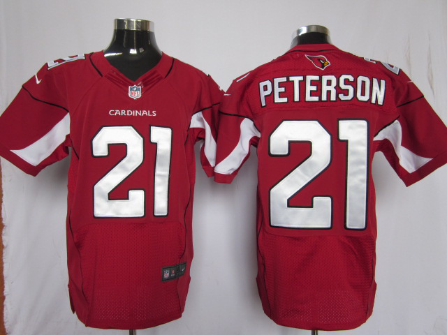 Arizona Cardinals 21 Peterson Red Nike Elite Jersey