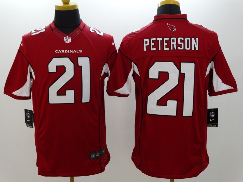 Arizona Cardinals 21 Peterson Red Nike Limited Jerseys
