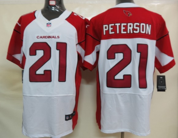 Arizona Cardinals 21 Peterson White Nike Elite Jersey