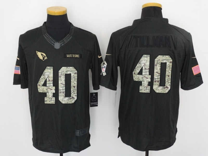 Arizona Cardinals 40 Pat Tillman 2016 Nike Anthracite Salute to Service Limited Jersey