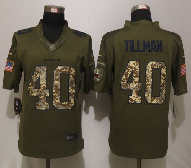 Arizona Cardinals 40 Tillman Green Salute To Service New Nike Limited Jersey