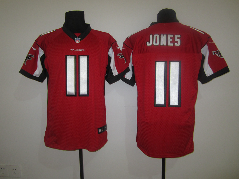 Atlanta Falcons 11 Jones Red Nike Elite Jersey