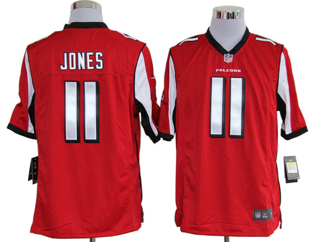 Atlanta Falcons 11 Jones Red Nike Game Jerseys