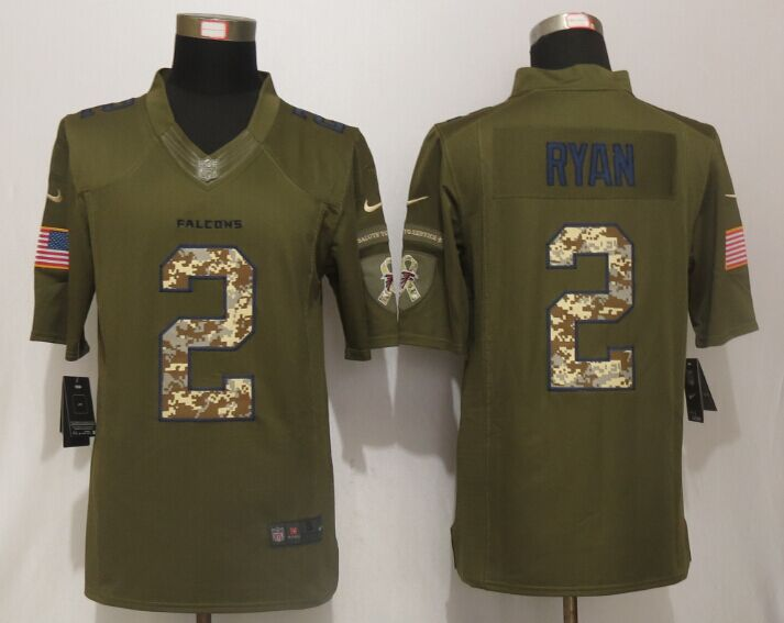 Atlanta Falcons 2 Ryan Green Salute To Service New Nike Limited Jersey