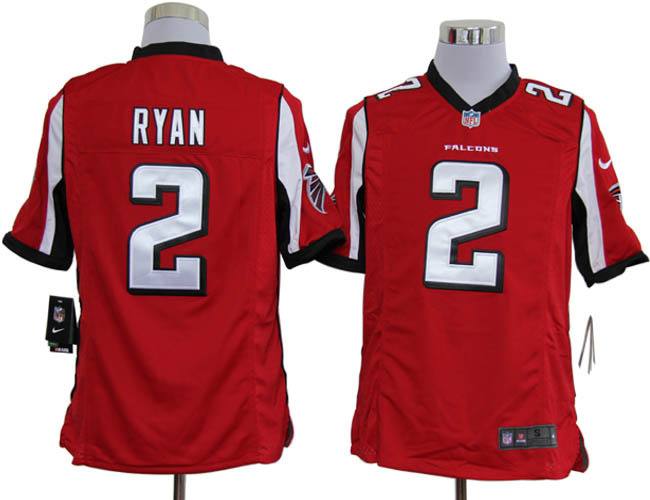 Atlanta Falcons 2 Ryan Red Nike Game Jerseys