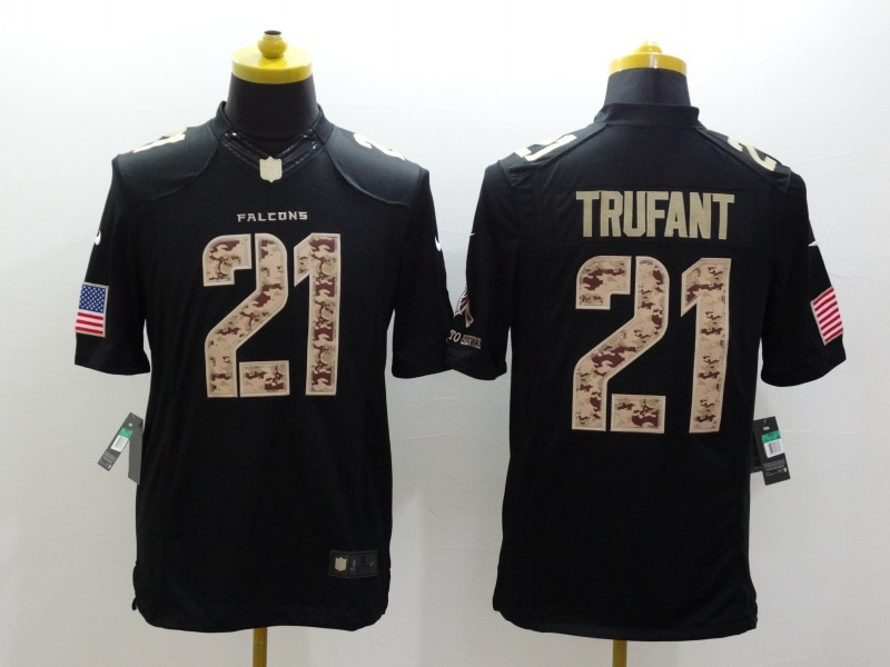 Atlanta Falcons 21 Trufant Black Nike Salute TO Service Jerseys
