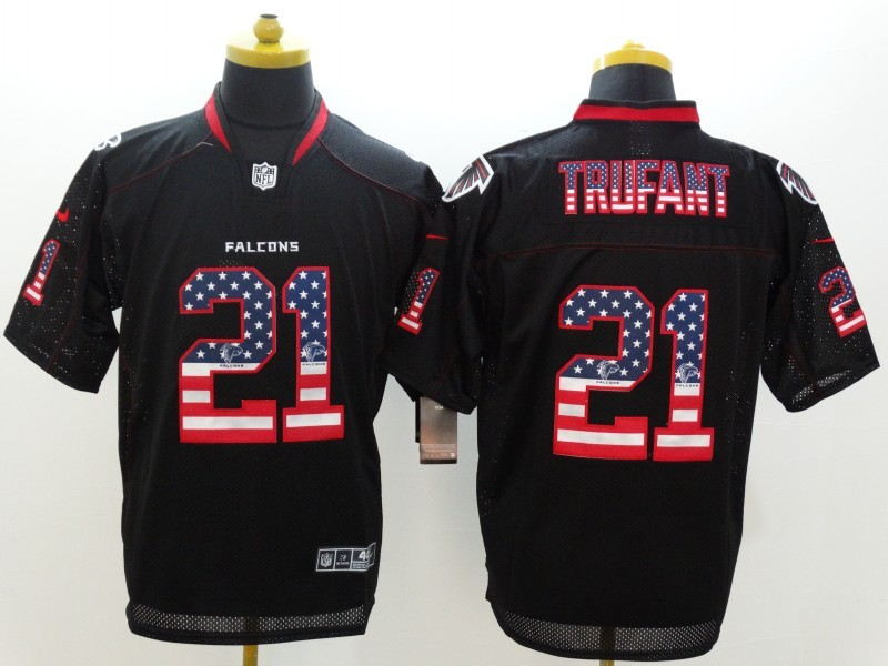 Atlanta Falcons 21 Trufant Black Nike USA Flag Fashion Elite Jerseys