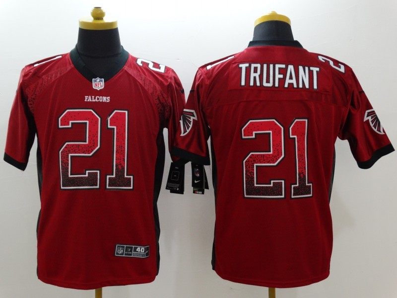Atlanta Falcons 21 Trufant Red Nike Drift Fashion Elite Jerseys