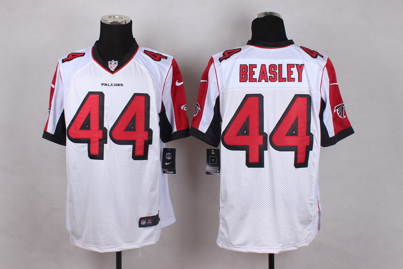 Atlanta Falcons 44 Beasley White Men Nike Elite Jerseys