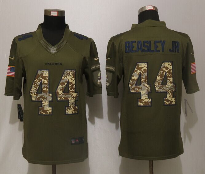Atlanta Falcons 44 Beasley jr Green Salute To Service New Nike Limited Jersey