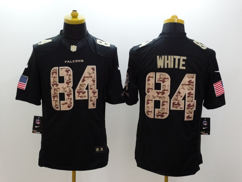 Atlanta Falcons 84 White Black Nike Salute TO Service Jerseys