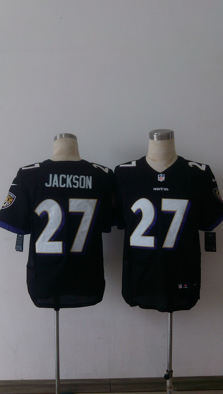 Baltimore Ravens 27 Jackson Black Men Nike Elite Jerseys