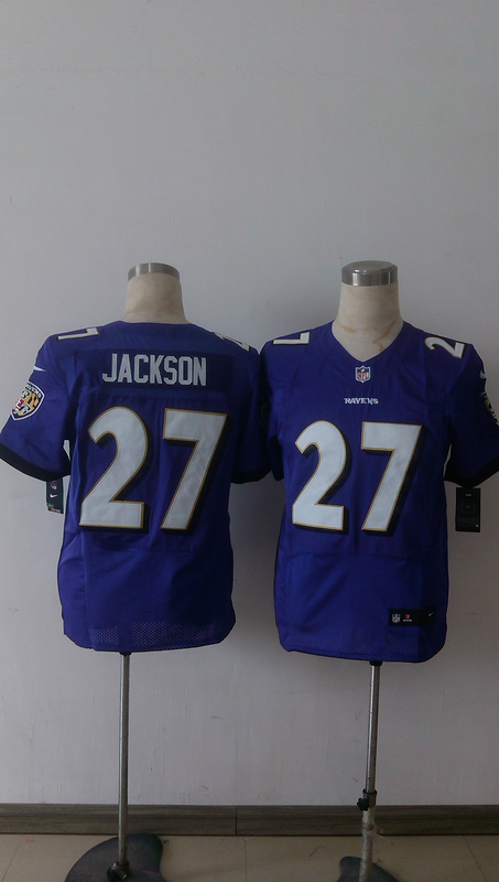 Baltimore Ravens 27 Jackson Purple Men Nike Elite Jerseys