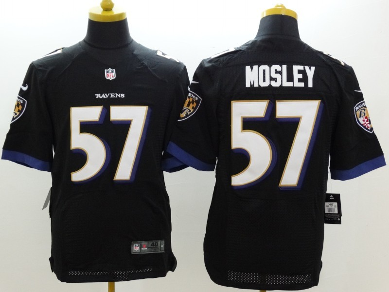 Baltimore Ravens 57 C.J. Mosley Black Nike Elite Jerseys