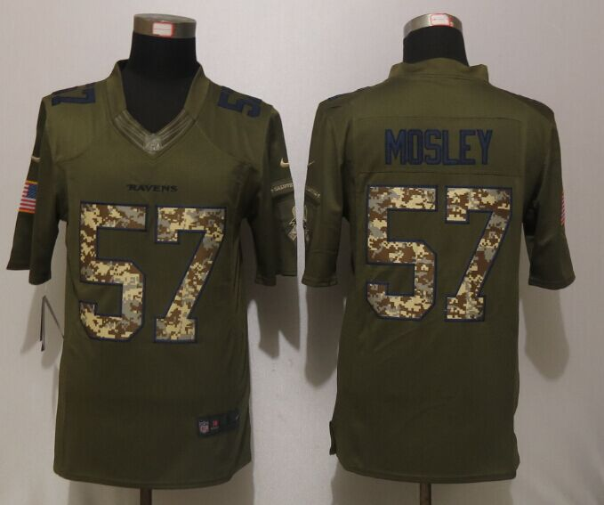 Baltimore Ravens 57 Mosley Green Salute To Service New Nike Limited Jersey