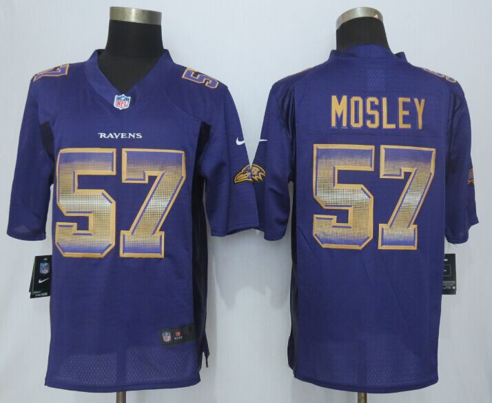 Baltimore Ravens 57 Mosley Purple Strobe 2015 New Nike Limited Jersey