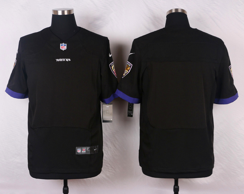 NFL Customize Baltimore Ravens Blank Black Men Nike Elite Jerseys