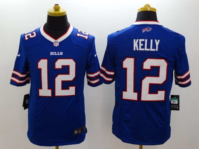 Buffalo Bills 12 Kelly Blue Nike Limited Jerseys