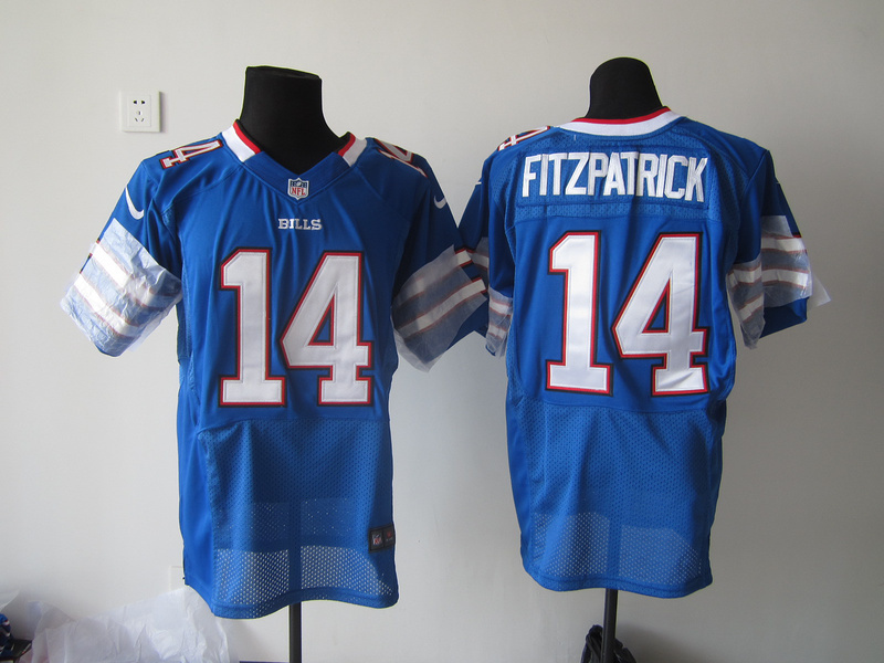 Buffalo Bills 14 Fitzpatrick Blue Nike Elite Jersey