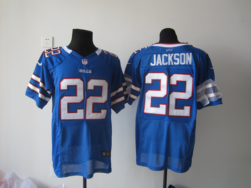 Buffalo Bills 22 Jackson Blue Nike Elite Jersey
