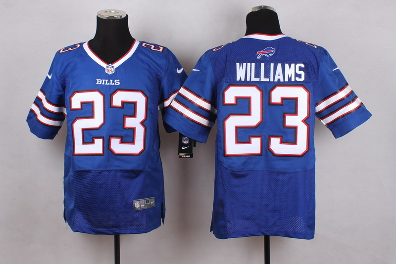 Buffalo Bills 23 Williams Blue Men Nike Elite Jerseys
