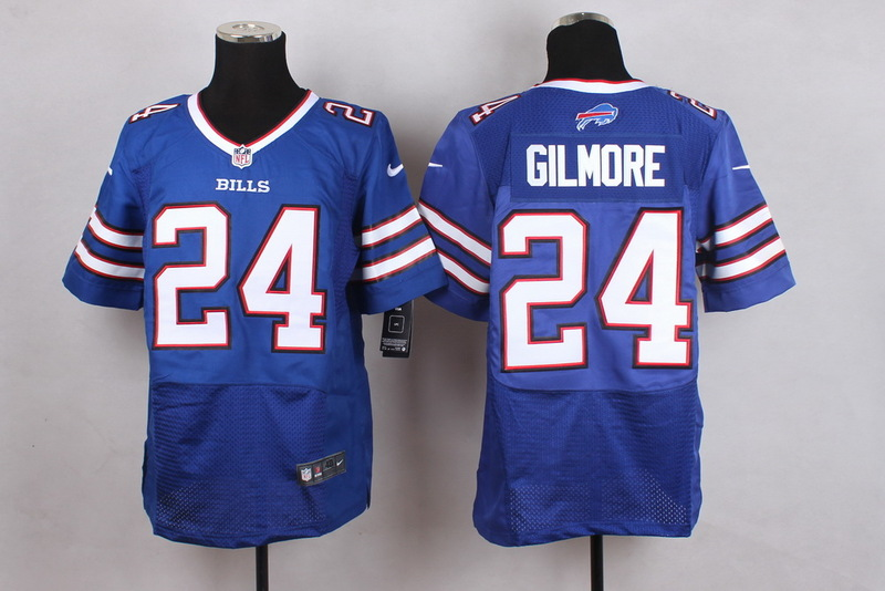 Buffalo Bills 24 Gilmore Blue Men Nike Elite Jerseys