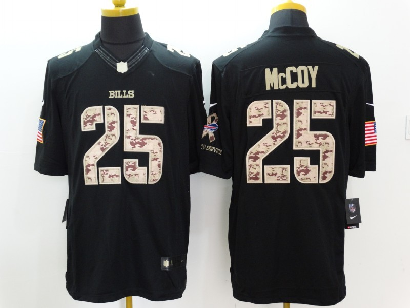 Buffalo Bills 25 McCoy Black Nike Salute TO Service Jerseys