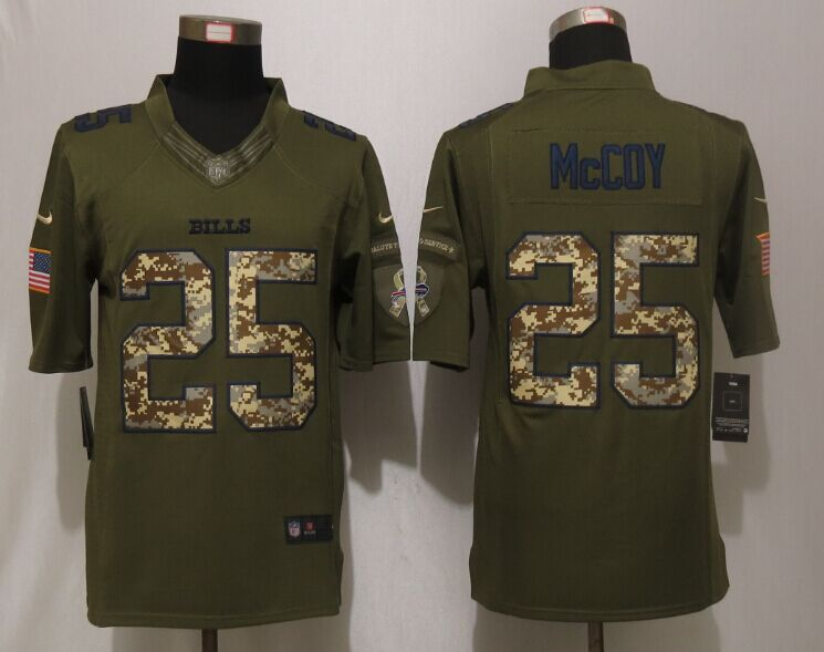 Buffalo Bills 25 McCoy Green New Nike Salute To Service Limited Jersey