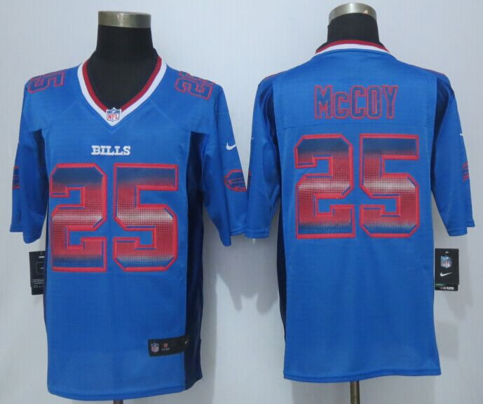 Buffalo Bills 25 McCoy Pro Line Blue Fashion Strobe 2015 New Nike Jersey