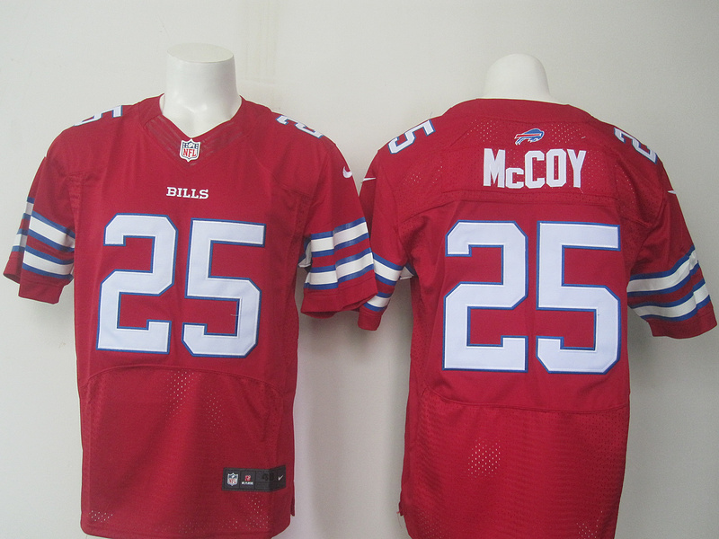 Buffalo Bills 25 Mccoy Red Men Nike Elite Jerseys