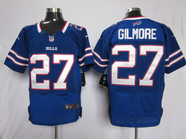 Buffalo Bills 27 Gilmore Blue Nike Elite Jersey