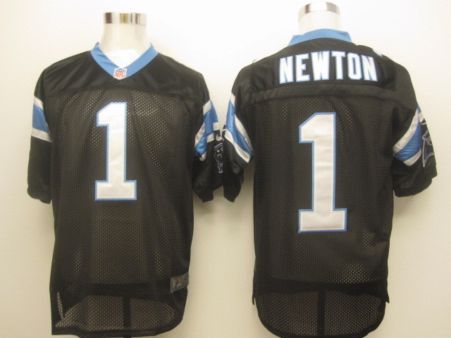 Carolina Panthers 1 Newton Black Nike Elite Jersey