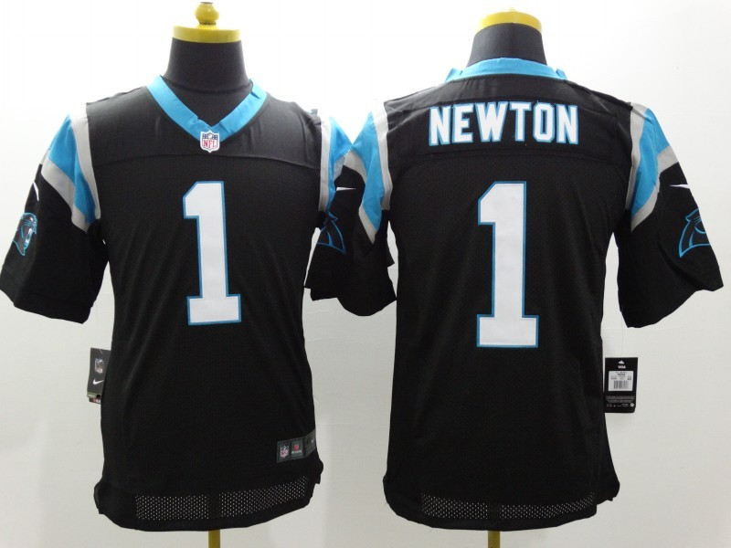 Carolina Panthers 1 Newton Black Nike Elite Jerseys