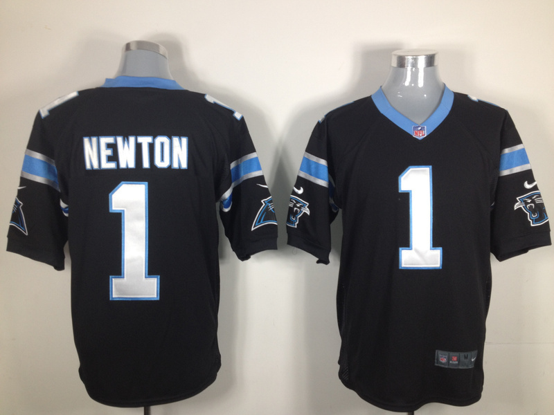 Carolina Panthers 1 Newton Black Nike Game Jersey