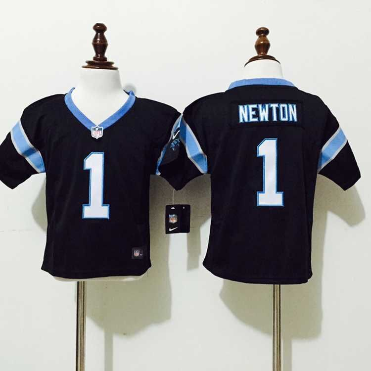 Carolina Panthers 1 Newton Black Nike baby Jersey